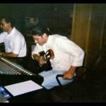 Recording the CD MIEL, Barcelona, Spain 1994